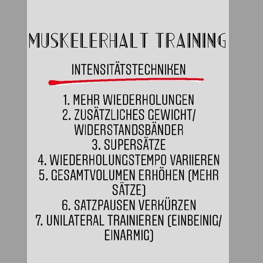 muskelerhalt training